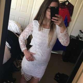 Xenia Boutique White Lace Dress