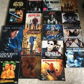 Assorted English Movies (original) VCD & DVDs