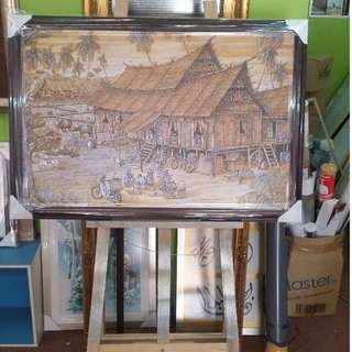 Pen and ink Art Painting Canvas | Malacca House
