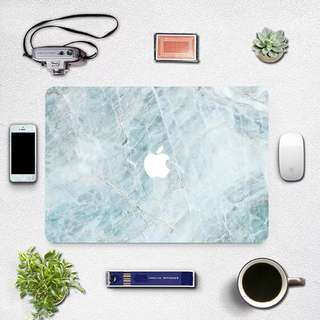 Blue Cracked Marble MacBook Laptop Decal Sticker Skin