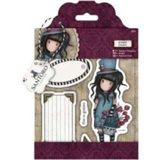 (NEW) Docrafts Gorjuss Santoro Rubber Stamp The Hatter GO907204