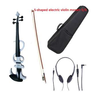 S-shaped electric violin mozart 4/4