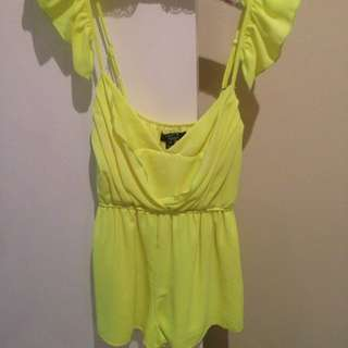 Fluro Yellow Jumpsuit