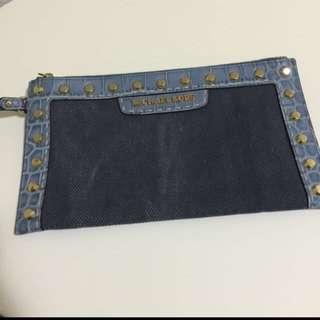 Authentic MK Michael Kors Denim Clutch/ Wallet
