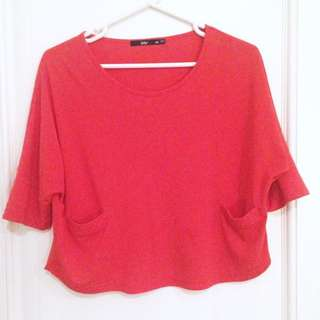 SPORTSGIRL Baggy Red Top