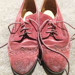 MILLIE'S Burgundy Brogues