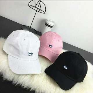 (全新)粉色小魚老帽