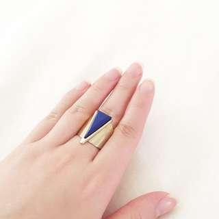 Blue Jewel Gold Ring
