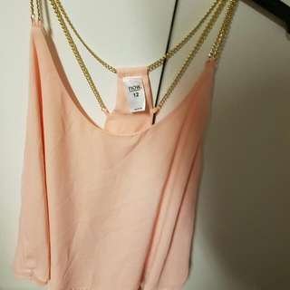Peach Top With Chains