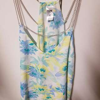 Floral Top With Chains