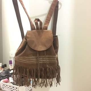 Brown Tribal Backpack