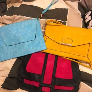 3 Sportsgirl Clutches/side Bags For $45