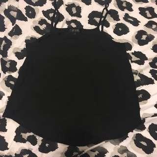 Cotton On Sheer Black Singlet