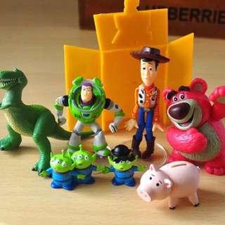 🌸 現貨 迪士尼 玩具總動員 場景公仔 一套