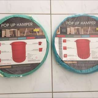 2 x POP-UP Storage Hampers & 1 decorative bunting flag pack