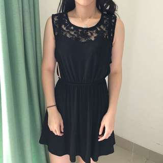 Dress Zara TRF (Trafaluc) Lace Black