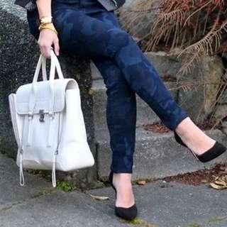 Zara 幻黑藍 迷彩褲