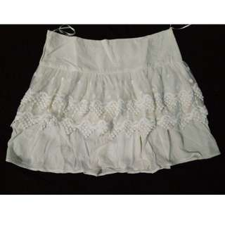 skirt with Lace embroidery layer
