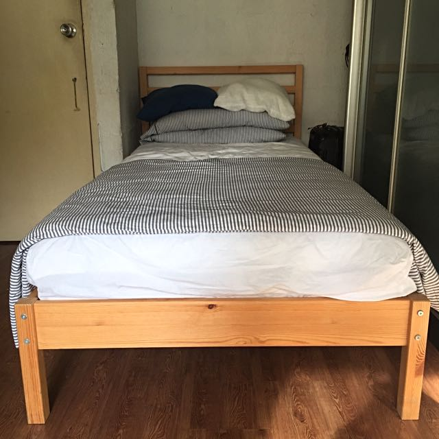 2x IKEA TARVA Bed Frames + Lönset Slatted Bed Bases @ $100/set ...