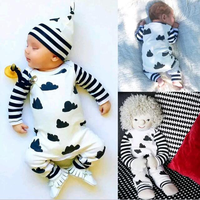 3 piece Baby Kids Onesie Outfit