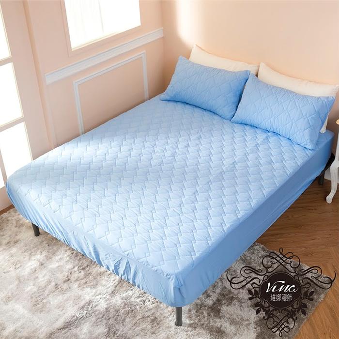 3M 透氣防潑水技術處理床包式保潔墊(深藍、米白、粉紫、桃紅、灰色)單人/雙人/加大/特大【現貨】