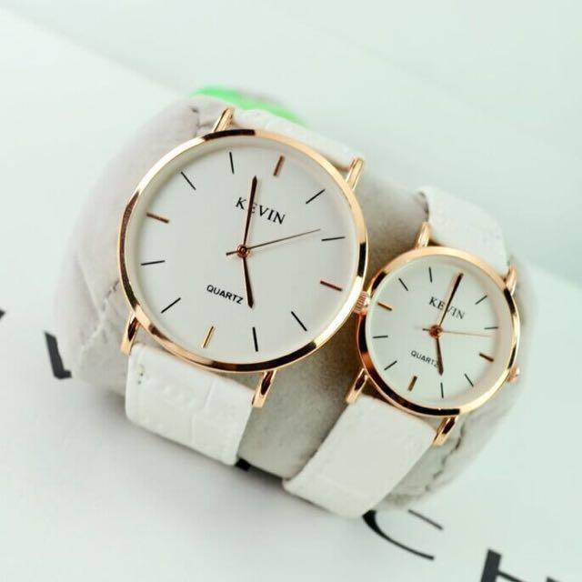 簡約韓版大錶框白色手錶 女錶 男錶,全新,戴起來非常好看!
