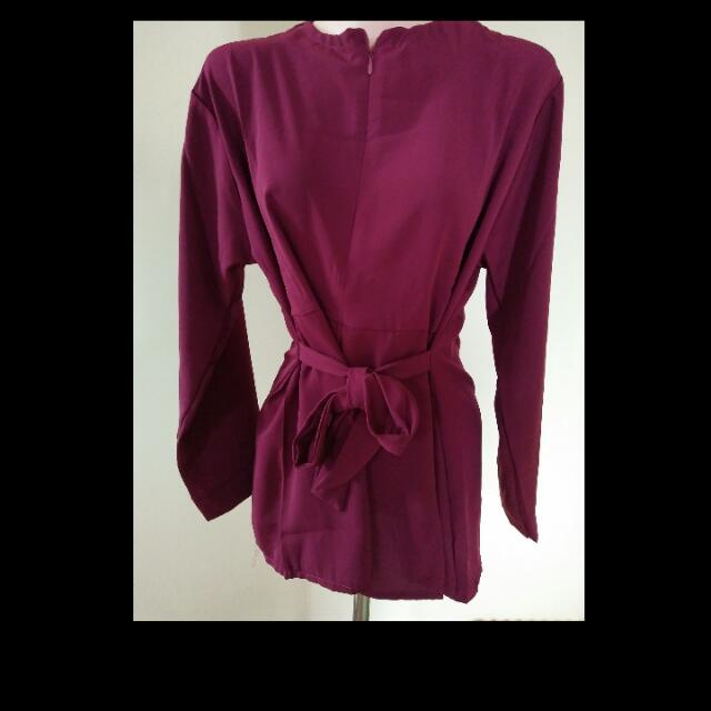 alona top maroon
