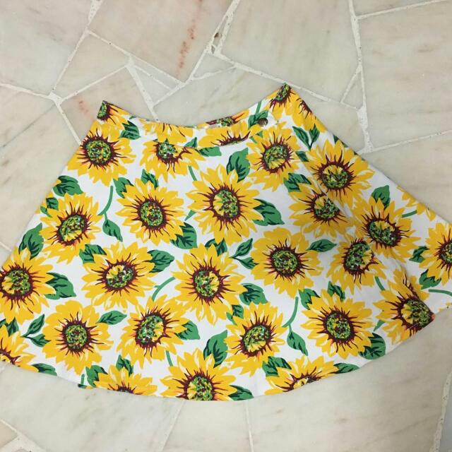 American Apparel Sunflower Skater Skirt