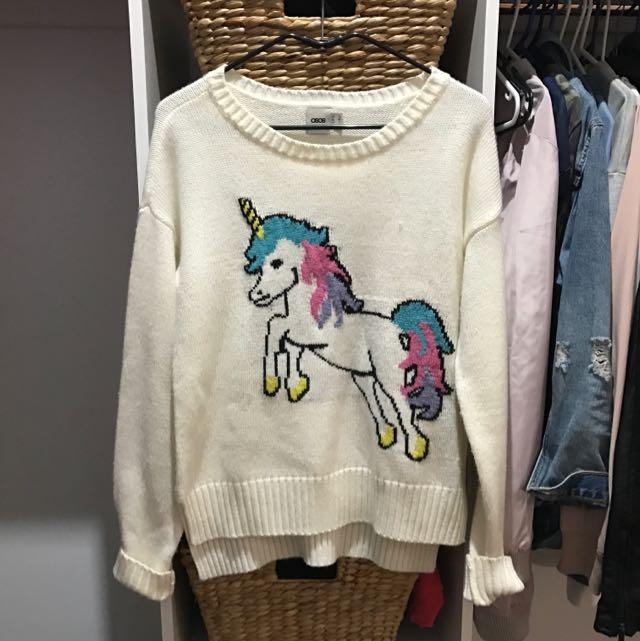 ASOS white Knitted Jumper