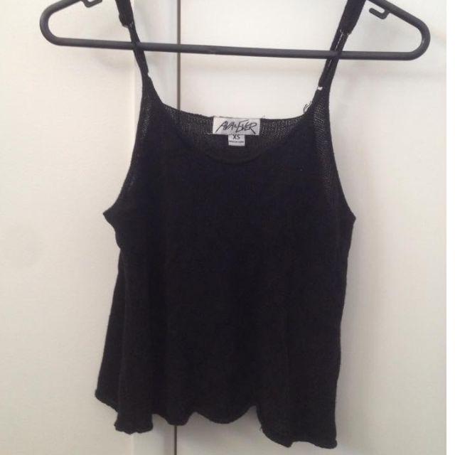 Ava & Ever Black Knit Singlet