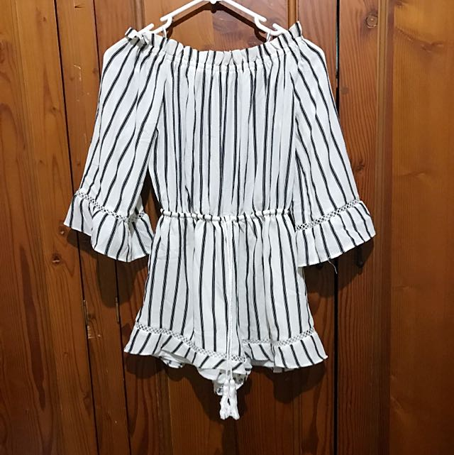 Black And White Stripe Jumpsuit #jumpsuitsale