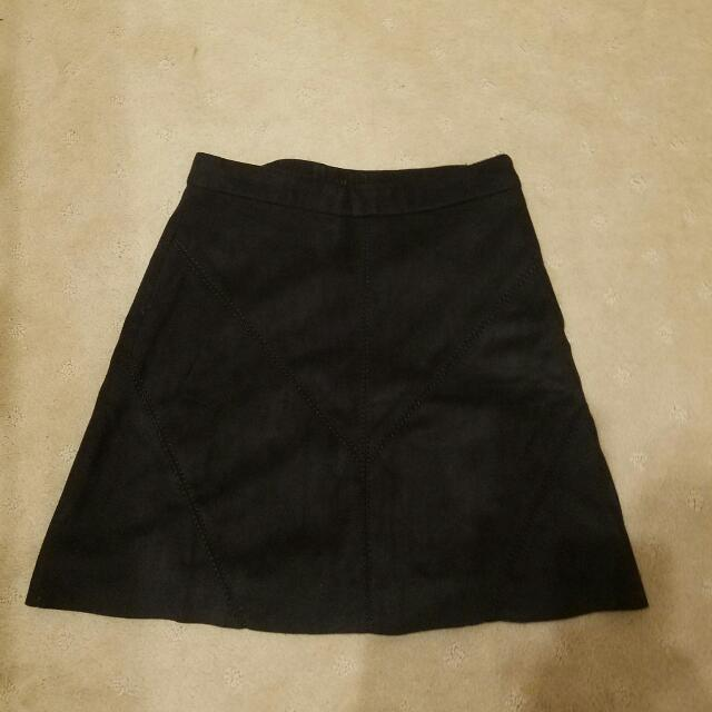 Black Suede Skirt Small
