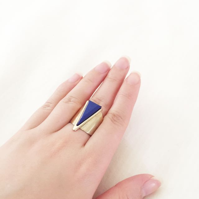 Blue Jewel Gold Ring