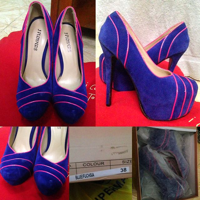 Blue Velvet Heels (JFlowers)