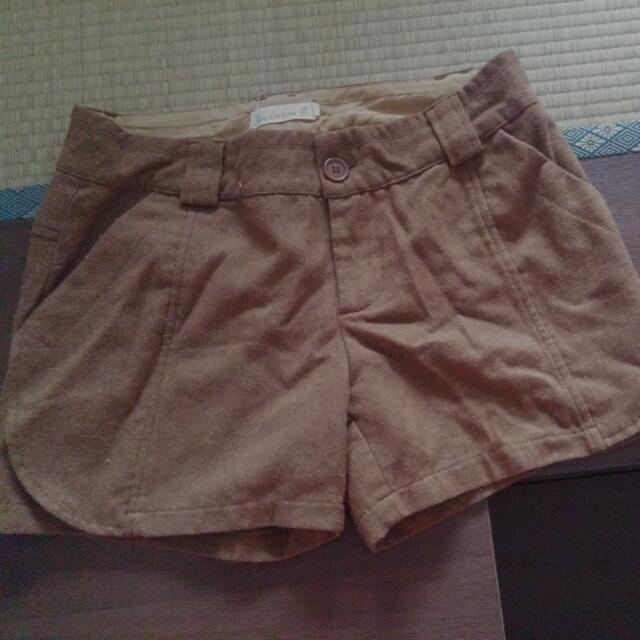 Brown Winter Shorts