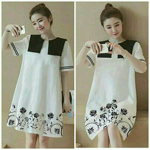 BT3168 White Silvyana Flow Dress