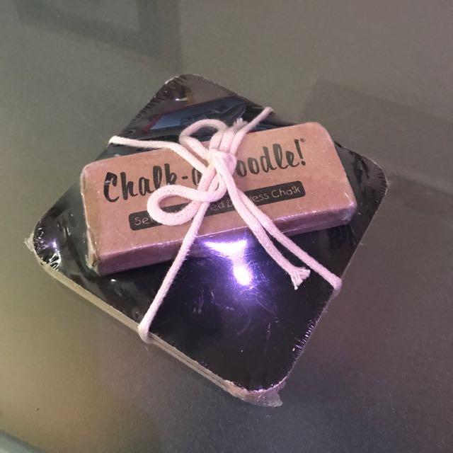 Chalk-A-Doodle Coasters Set Of 4 Great Gift Artfully Elegant!!