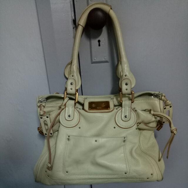 CHLOE Genuine Leather Bag in Beige/Cream