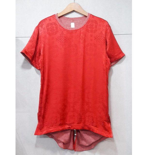 CLOT REVERSIBLE Royale TEE 絲綢 唐裝 紅