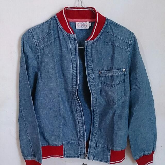 Color Box Denim Jacket