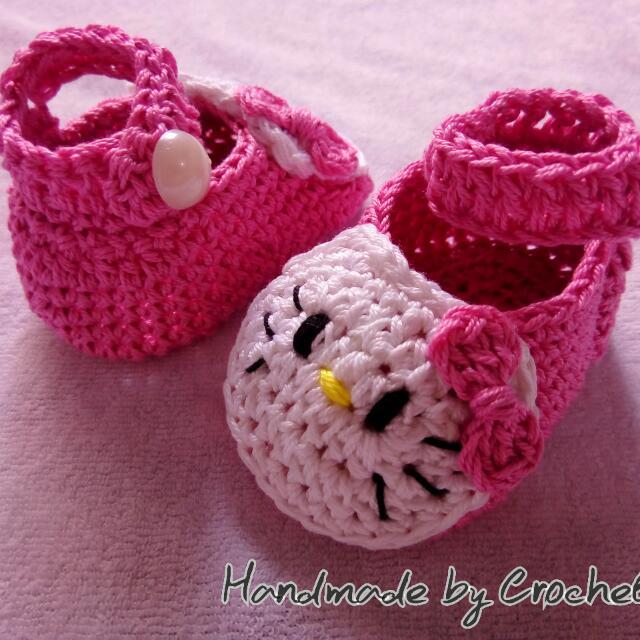 Crochet Hello Kitty Shoes Babies Kids Babies Apparel On Carousell
