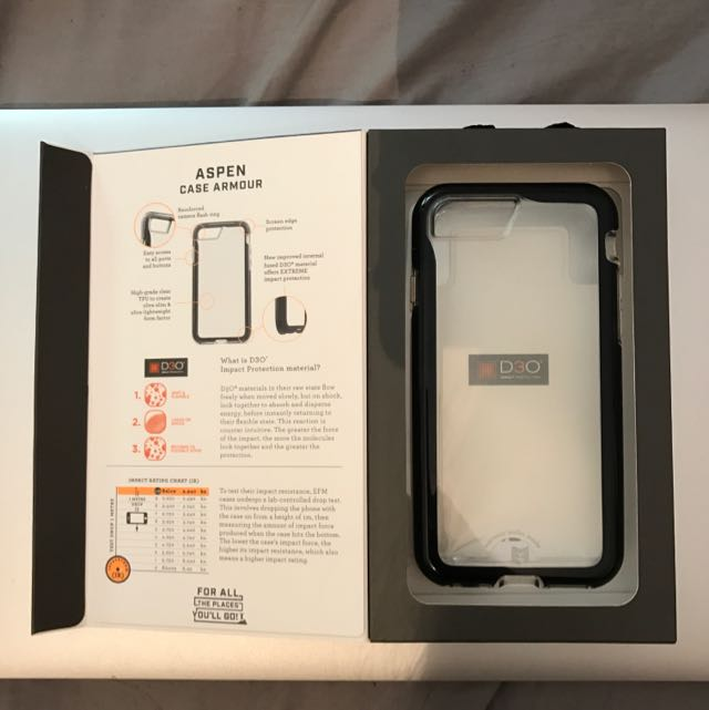 EFM iPhone 7 Aspen Case Armour D30 Crystal/Black