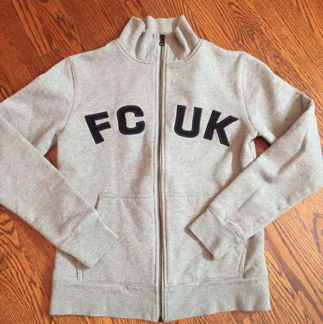 FCUK Zip Up Jacket Sz:xs Colour: Grey