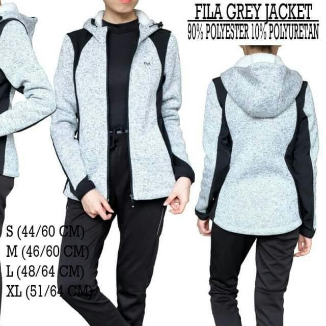 Fila Grey/black Jacket