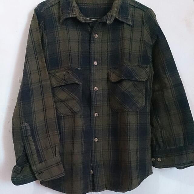 Flanel Dark Green
