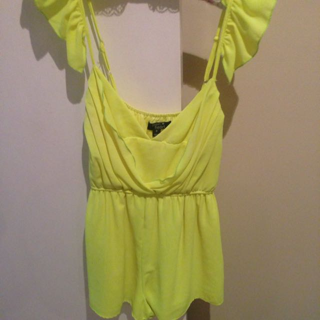 Fluro Yellow Jumpsuit