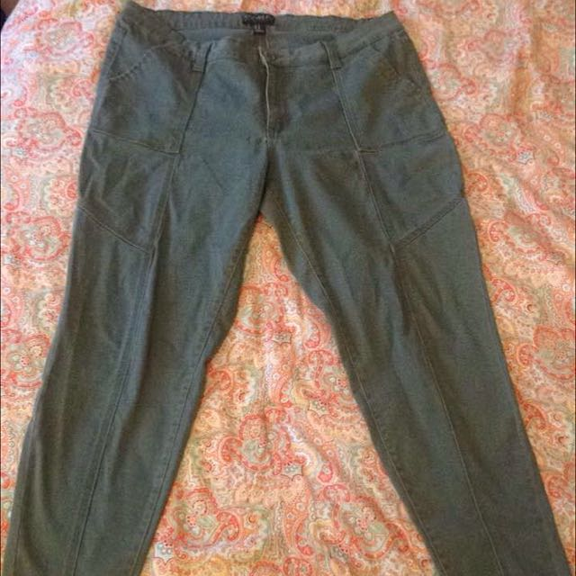 Forever 21 Army Green Jeans