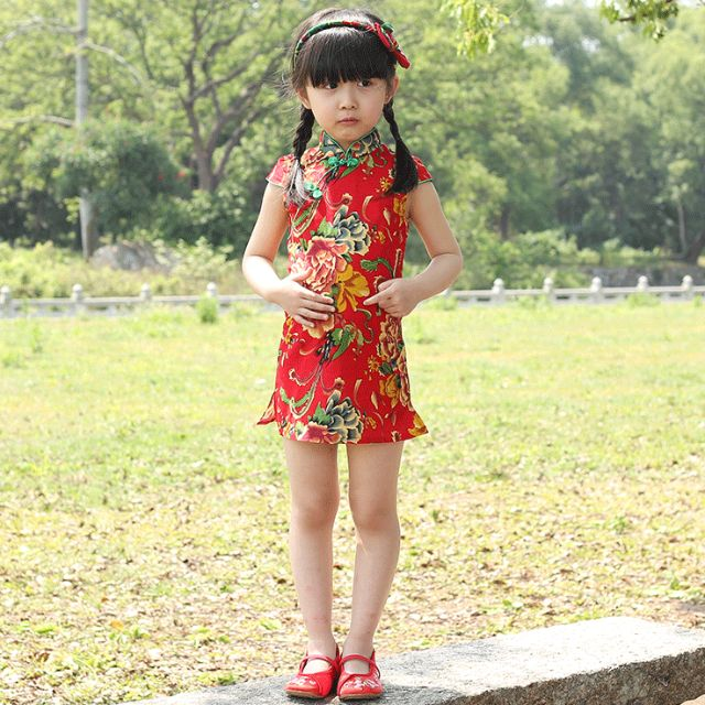 2c09b2b59 Girls Chinese Dress/Girls Qipao/ Kids Cheongsam/ Kids Chinese ...