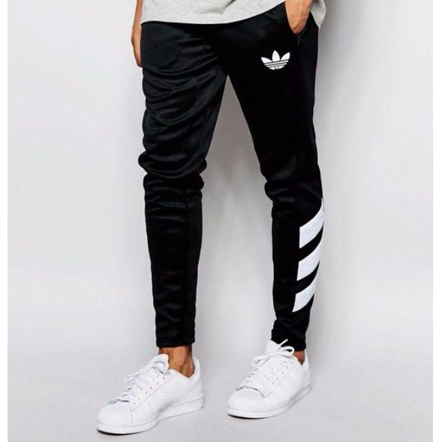 「H.C 限時促銷」英國公司 adidas Originals Skinny Joggers 陳奕迅 長褲 運動 慢跑 三間線 黑