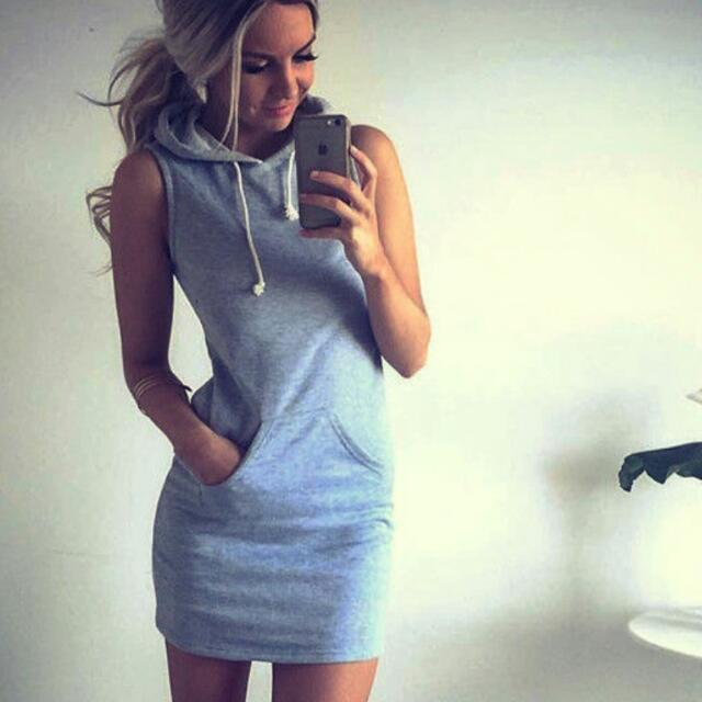 Hoodie Grey Dress